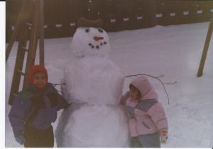 Snowman winter 1991