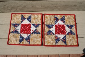 2 blocks for our Potholder quilts