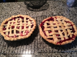 Two Mixed Berry Pies
