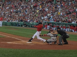Jacoby Ellsbury hitting a triple