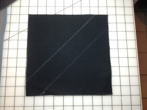 "9"" black square marked"