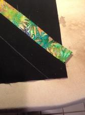 strip ironed over - no line should show