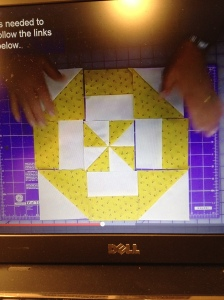 quilt block from video