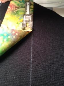 "stitch 1/4"" seam"