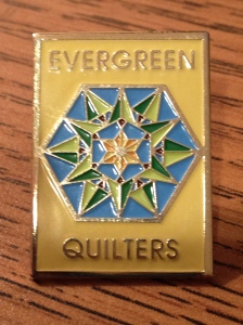 Evergreen Quilters Pin