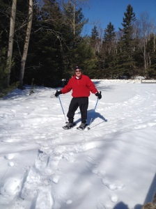 Chuck on Snowshoes