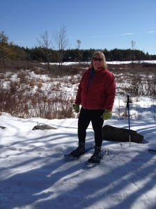 Yours truly with Snow Shoes strapped on.