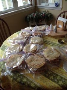 5 dozen ready to go into the freezer