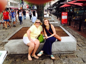 Elizabeth and me in Quincy Market