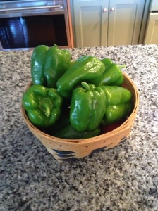 homegrown peppers