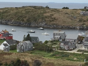 view from the lighthouse on Monhegan Island