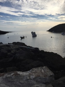 afternoon view from dock in Monhegan