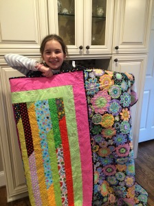 Victoria with her Quilt